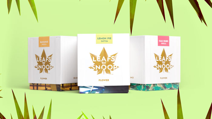 Leafs by Snoop cannabis leaf logo on packaging