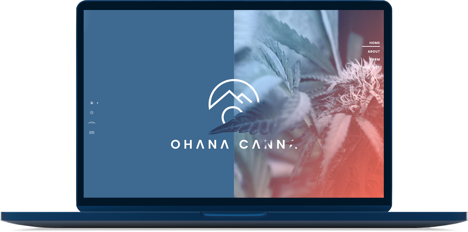 Ohana Canna website design on homepage