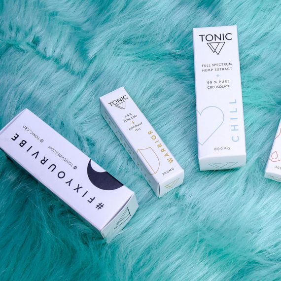 Tonic CBD packaging design preview